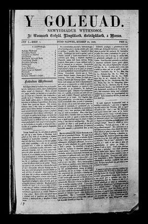 John Davies (printer and journalist) - Y Goleuad Oct 30 1869