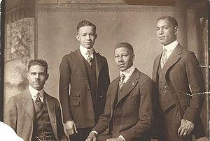 Jasper Alston Atkins - (left to right): Jasper Alston Atkins, Charles A. Chandler, Mifflin Gibbs, and Leroy Pierce.