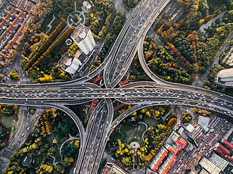 Interchange between Yan'an Elevated Road and North-South Elevated Road Yan'an East Road Interchange, Shanghai, China (Unsplash).jpg