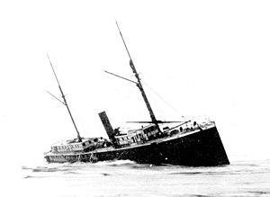Steamboats of Yaquina Bay and Yaquina River - Wreck of Yaquina City, December 4, 1887.