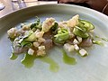 Yellow fin tuna crudo at Mosconi Restaurant, Fortiude Valley, Queensland closeup.jpg