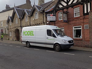 Yodel (company) - A Yodel delivery van in Tadcaster, North Yorkshire