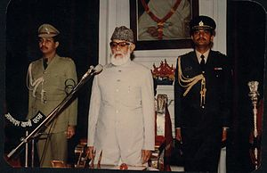 Mohammad Yunus Saleem - Mohammad Yunus Saleem in 1990, as Governor of Bihar