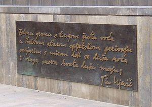 """Tin Ujević - """"Zelenu granu s tugom žuta voća..."""" Ujević's famous poem."""