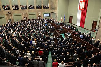 Parliament of Poland - National Assembly in session