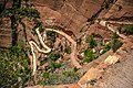 Zion Nat'l Park - the spectacular Angel's Landing trail is certainly not for the faint of heart.!! - many, many switchbacks - (19923212850).jpg