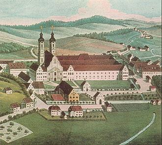 Zwiefalten Abbey - Image: Zwiefalten 1826