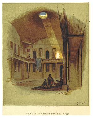 Darbazi - A Georgian nobleman's darbazi-type house in Tbilisi in the early 19th century.