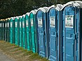 (Hurricane Katrina) Algiers, LA., 10-29-2005 -- A line of portable toilets at a Base Camp. Base camps were set up in various locations around New orleans for rescue workers and volu - DPLA - d3fabd2fe611d6f60636f9b80c50b152.jpg