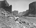 (Old No. 120) De Chelly Canyon, looking east, Arizona. Hillers photo. - NARA - 517768.tif