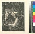(Un vieux paysan présente une poignée de foin a son âne.) (NYPL b14504919-1147702).jpg