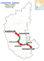 (Yesvantpur - Harihar) Intercity Express route map.png