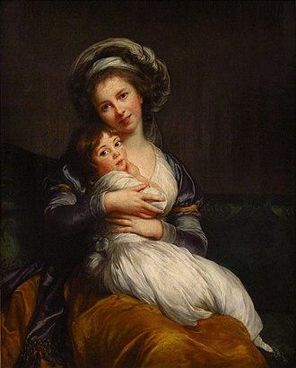 1786 in art - Élisabeth Vigée Le Brun's self-portrait with her daughter