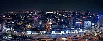 Marszałkowska Street, Warsaw - Image: Ściana Wschodnia (9010896668)