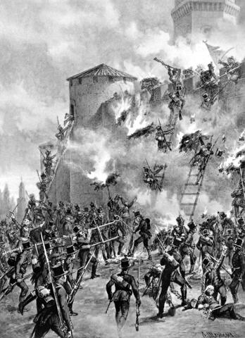 Взятии штурмом крепости Гянджи 3(15) января 1804 года
