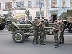 Гармата на Хрещатику під час тренувального маршу 22 серпня 2014 IMG 7651.JPG