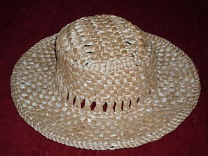 Straw hat - A traditional Ukrainian straw hat.