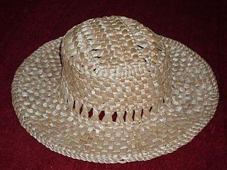 Straw hat Hat made of straw