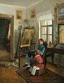 Хруцкий И.Ф. В комнатах усадьбы художника. (Дети перед мольбертом). 1854–1855.jpg