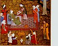 Школа Бехзада Ширин смотрит на портрет Хосрова.Герат. 1495 Брит муз..jpg