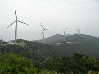 Wind power in Asia - Wind farm on Changshan Islands, China