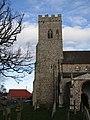 -2020-11-12 South face of the bell tower, All Saints, Upper Sheringham.JPG