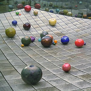Stone Wave - Richard Rhodes' Stone Wave at the Tacoma Art Museum featuring glass work by Dale Chihuly