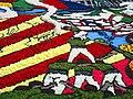 064 Fabra i Coats (Barcelona), mostra Som Cultura Popular, catifa de flors a l'esplanada.jpg