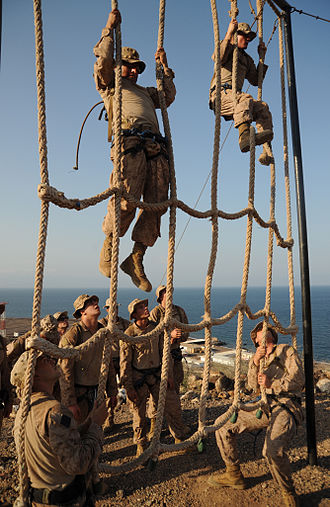 Obstacle course - At the Combat Training Center at Arta Beach