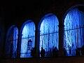127 Llum BCN, instal·lació Neu Morta, porxo del Saló del Tinell, pl. Sant Iu.JPG