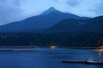 Mount Rishiri - Image: 130726 Mount Rishiri view from Oshidomari Port in Rishiri Island Hokkaido Japan 01s 5
