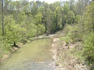 Fourteen Mile Creek - Downstream from the bridge of Tunnel Mill Road