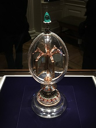 Rock Crystal (Fabergé egg) - Image: 15 Richmond VMFA Imperial Rock Crystal Easter Egg with Revolving Miniatures (1896) (39923872531)