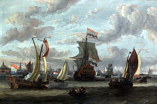View of Amsterdam with the Ij