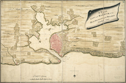 Map of the city and harbour of Havana in 1740