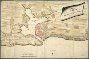 History of Havana - Map of the city and harbour of Havana in 1740