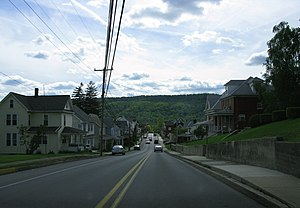 Roaring Spring, Pennsylvania - Main Street approaching Cherry Street