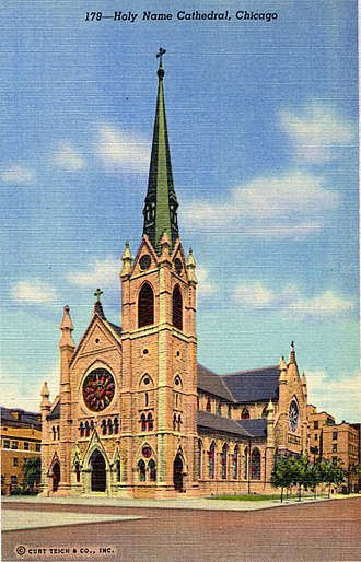 Holy Name Cathedral (Chicago) - Holy Name Cathedral in 1941