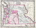 1862 Johnson Map of Washington and Oregon w-Idaho - Geographicus - WAOR-johnson-1862.jpg