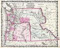 1862 Johnson Map of Washington and Oregon w-Idaho - Geographicus - WAOR-johnson-1862.jpg