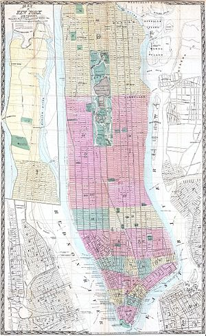 Church Street (Manhattan) - Image: 1865 Dripps Map of New York City Geographicus New York dripps 1865