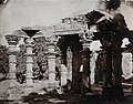 1870 photo of Hindu columns in the colonnade of the Quwwat-ul-Islam Mosque at the Qutb, Delhi.jpg