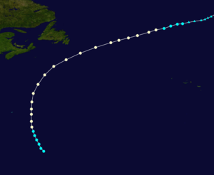 1885 Atlantic hurricane season - Image: 1885 Atlantic hurricane 1 track