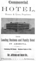 1888 Commercial Hotel ad Phoenix Arizona.png