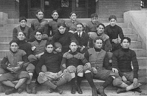 Black & white image illustrating the 1903 Alabama Polytechnic Institute, now Auburn University, varsity football team.
