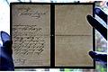 1907-01-12 Gmunden Danksagung Georg Karl Gebhard Freiherr von der Wense i.A. Herzog Cumberland an Friedrich Sahlfeld in Hannover, Wasserzeichen Victoria Myrtle Mill.jpg