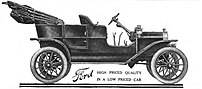 1908 Ford Model T ad from Oct.