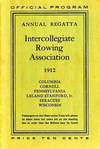 Poughkeepsie Regatta - Program Cover of the 1912 Poughkeepsie Regatta