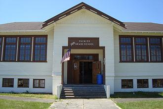 Rainier, Washington - 1915 grade school restored and converted to Lifelong Learning Center.