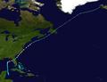 1945 Atlantic hurricane 1 track.png